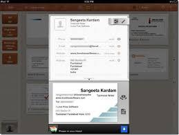 Business Card Capture App Ipad Business Card Reader App Camcard Hd Free