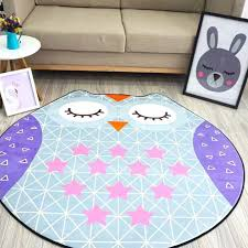 Owl Kitchen Rugs Diameter 1 5m Flannel Irregular Animal Shapes Carpet Owl