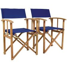 charles bentley pair of wooden directors chairs buydirect4u
