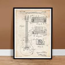 what size paper are blueprints printed on amazon com gibson les paul guitar 1955 patent art print 5
