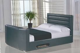miami 4ft6 double ottoman storage tv bed black leaders tv beds