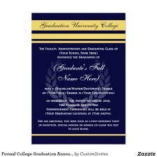 formal college graduation announcements formal college graduation announcements blue college