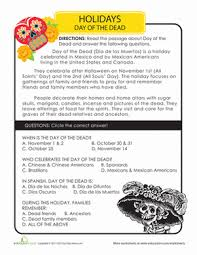 day of the dead history worksheet education com