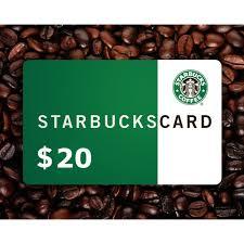 20 gift card starbucks 20 gift card gift card