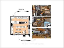 restaurant concept design services revit modeling furniture and