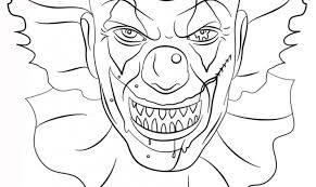 scary clown coloring free printable coloring pages intended
