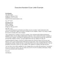 administrative assistant cover letter examples best executive