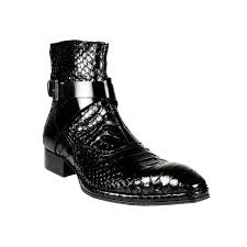 s boots designer jo ghost mens shoes black zip up python boots s footwear