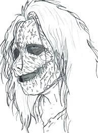 Scary Coloring Pages Vonsurroquen Me Scary Coloring Paes