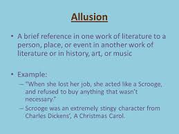 examples of allusion admissions guide