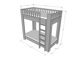 Plans For Building Built In Bunk Beds by Ana White Rustic Modern Bunk Bed Diy Projects