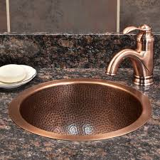 drop in round copper sink signature hardware