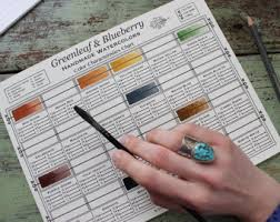 printable greenleaf u0026 blueberry blank color mixing chart