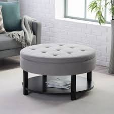 coffee table coffee table modern designer ottoman fabric round