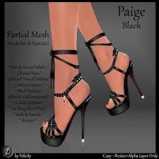 second life marketplace felicity paige stilettos black high