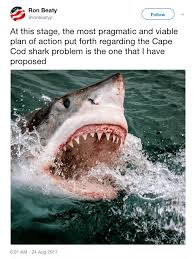 my response to commissioner ron beaty on cape cod shark cull