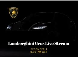 lamborghini urus suv unveiling today watch live stream