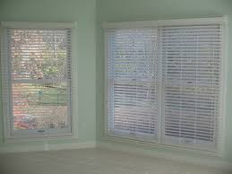White Wooden Bedroom Blinds 2 Inch Faux Wood Blinds