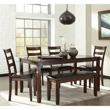 ashley furniture corner table dining room sets with bench corner table 7 piece set under 500
