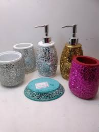 ea0101 silver bathroom accessories sets with soap dispenser and