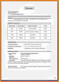 resume format for engineers freshers ece