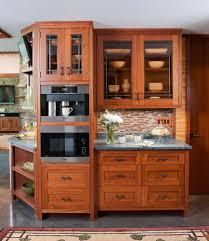 Microwave Storage Cabinet Kitchen Elegant Frank Lloyd Wright Kitchen Design With Wooden