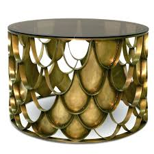 gold drum coffee table gold metal drum table learnerp co