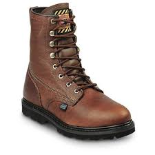 justin light up boots justin boots men s 8 premium light duty lace up work boots tan