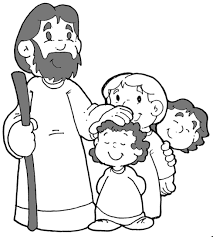 jesus and children coloring page chuckbutt com