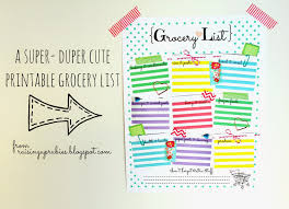 Grocery Shopping List Template Raising Up Rubies Blog Coupon Organization Ideas Some
