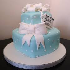 blue hearts and bow birthday cake wedding u0026 birthday cakes from