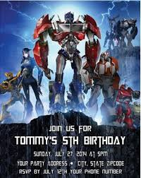 transformers birthday transformers birthday party invitations personalized custom