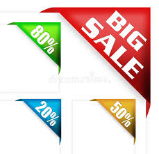 discount ribbon big sale sign and discount ribbon stock illustration