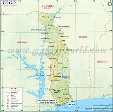 Map Of Africa With Capitals by Togo Map Map Of Togo