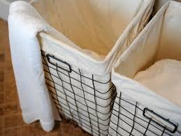 hidden laundry hamper easy to make laundry basket liners hgtv