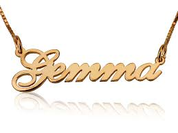 get name necklace yellow gold name necklace mynamenecklace persjewel