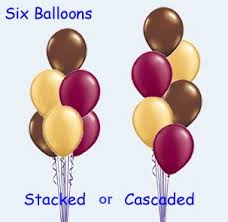 balloon bouquest 6 balloon bouquet plain 12 hours we like to party