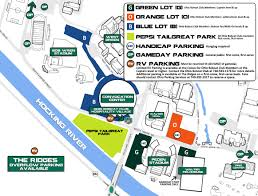 Athens Ohio Map by Football Seating U0026 Parking Ohio Bobcat Club