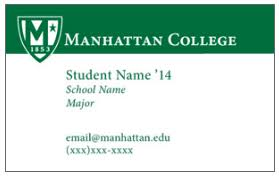 student business card student business cards center for career development inside