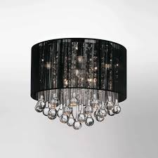 Black Ceiling Light Shade Brizzo Lighting Stores 10 Gocce Modern Flush Mount