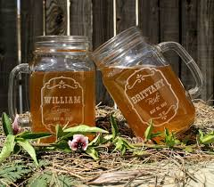 Personalized Mugs For Wedding Barn Wedding Favors Personalized Mason Jar Mugs Parting Gifts