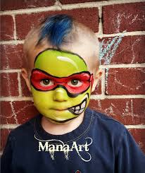 cool face painting for halloween ninja turtle face paint manaartonline com manaart face and body