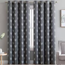 Silver Window Curtains Modern Gray Silver Curtains Drapes Allmodern