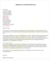 9 rejection thank you letter free sample example format