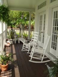 exterior astounding front porch decoration using dark brown wood