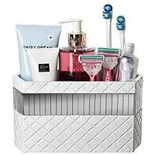 hair and makeup organizer bathroom vanity makeup caddy organizer white bath