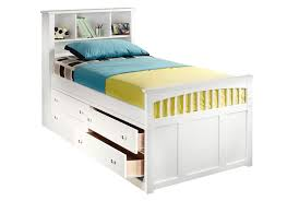Bed Design With Storage by Bedroom Contemporary White Twin Captains Bed Design With Pillow