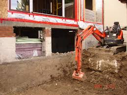 the reno coach passive house project in toronto excavation for