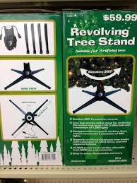 revolving tree stand for props