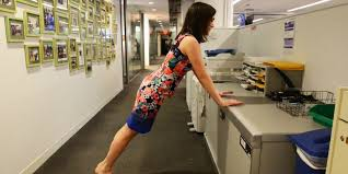 Office Desk Workout by How To Exercise At Work Without Messing Up Your Hair And Makeup